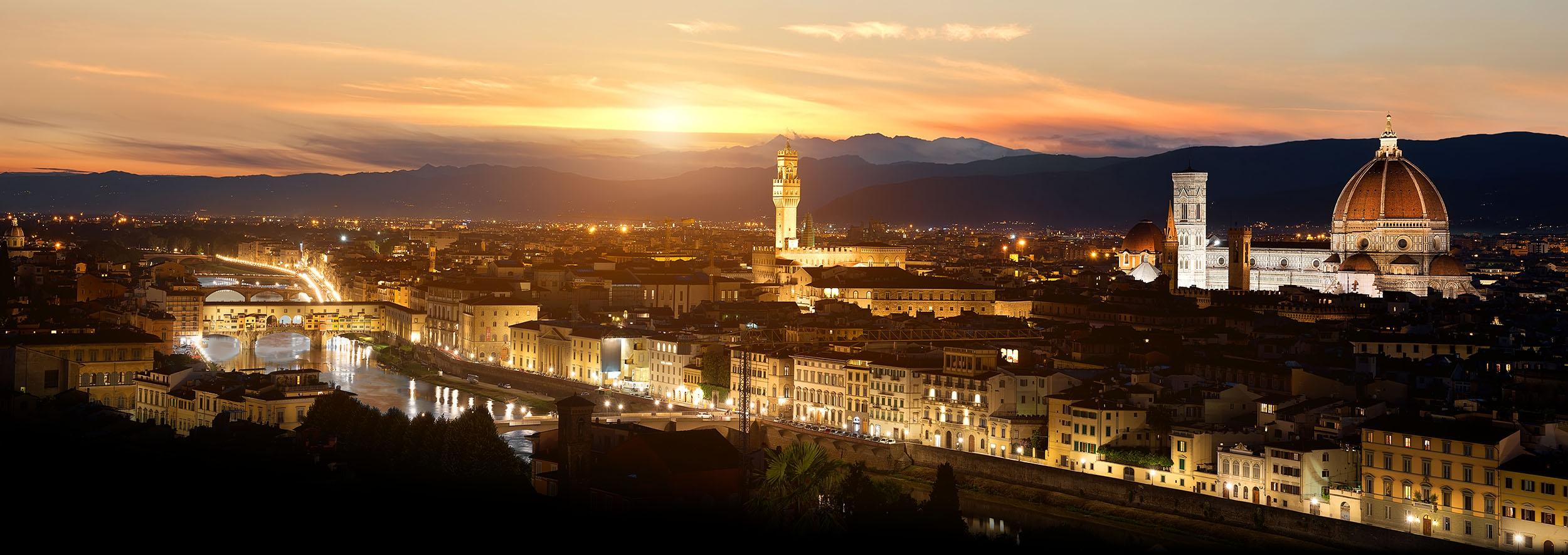 Florence by night beautiful landscape