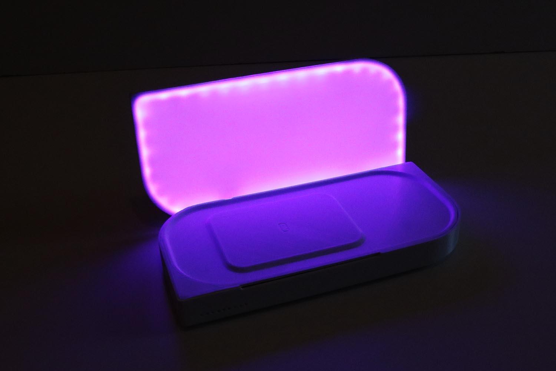 lampada portatile luce rosa